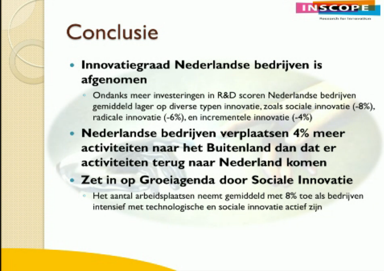 Conclusie Innovatie Monitor